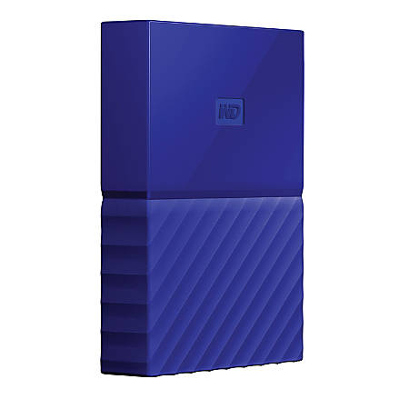 WD My Passport® 4TB Portable External Hard Drive, Blue