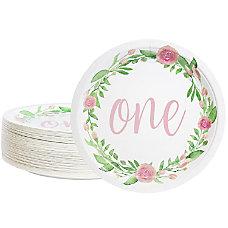 Disposable Plates 80 Count Paper Plates