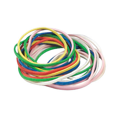 Learning Resource® Rubber Bands, 1/4-lb Bag, Assorted Colors, Pack Of 4 Bags