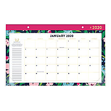 Emily Ley Simplified Floral Monthly Desk