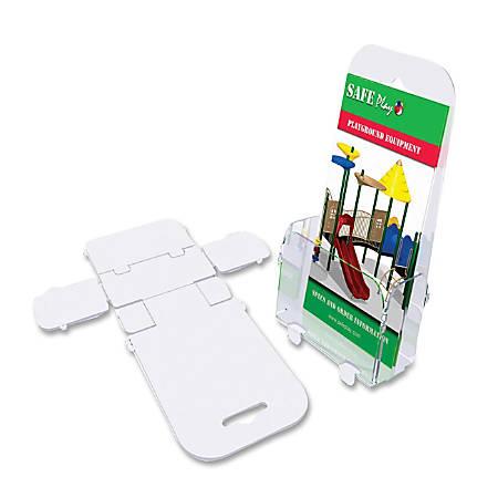 "Deflecto Foldem-Up Leaflet Size Pocket - 1 Pocket(s) - 7.3"" Height x 4.4"" Width x 2.1"" Depth - Desktop, Wall Mountable - Clear - Plastic - 6 / Pack"