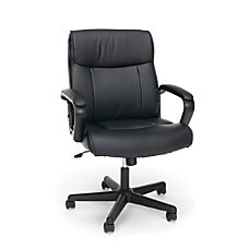 OFM Essentials Leather Mid Back Chair