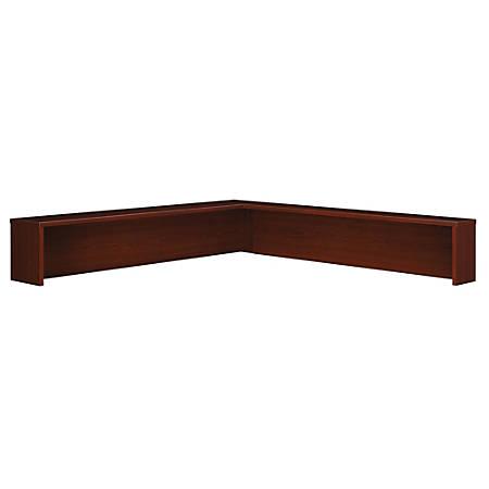 Bush Business Furniture Components Reception L Shelf, Mahogany, Premium Installation