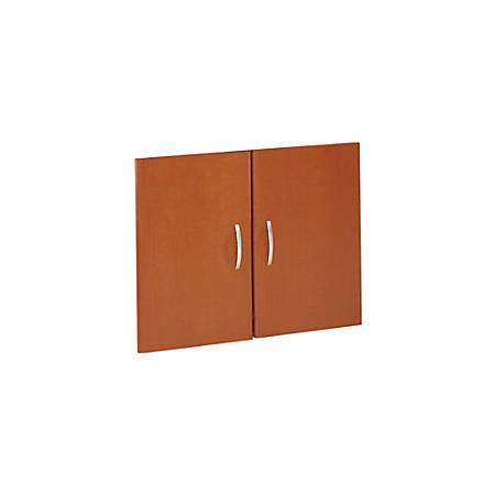 Bush Business Furniture Components Half-Height 2 Door Kit, Auburn Maple, Premium Installation