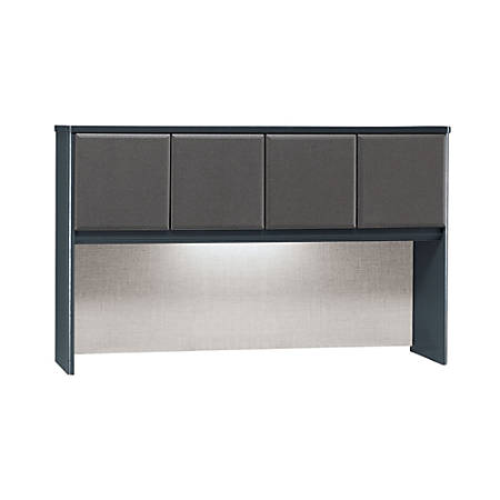 "Bush Office Advantage 60"" Hutch, 36 1/2""H x 59 5/8""W x 13 7/8""D, White Spectrum/Slate, Premium Installation Service"