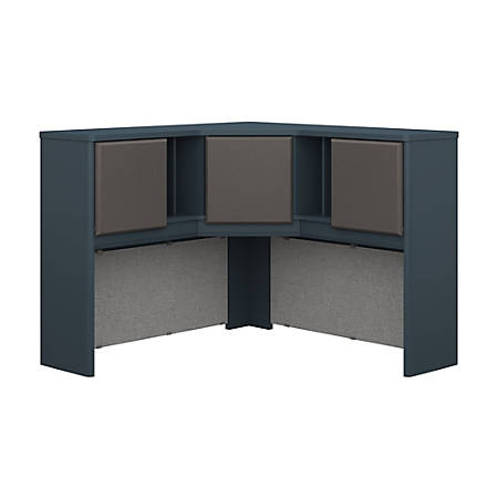 "Bush Business Furniture Office Advantage Corner Hutch 48""W, Slate/Slate, Premium Installation"