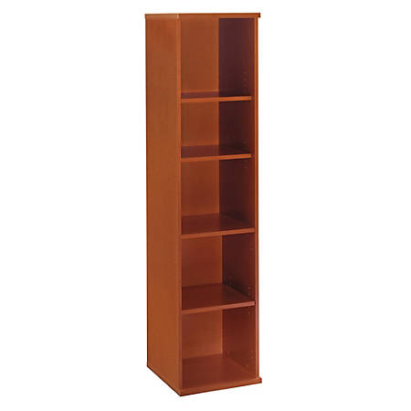 "Bush Business Furniture Components 5 Shelf Bookcase, 18""W, Auburn Maple, Premium Installation"