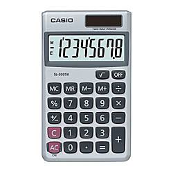 Casio SL 300SV Handheld Display Calculator