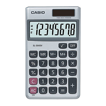 Casio® SL-300SV Handheld Display Calculator