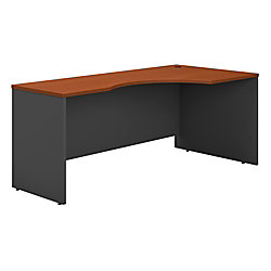 "Bush Business Furniture Components Corner Desk Right Handed 72""W, Auburn Maple/Graphite Gray, Premium Installation"