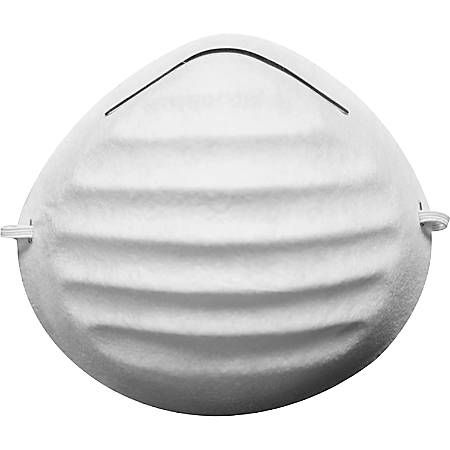 Jackson Safety R05 Disposable Dust Mask - Disposable, Snug Fit, Adjustable Nose-piece - Dust Protection - White - 50 / Box