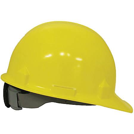 Kimberly-Clark 4-point Rachet Suspsn Safety Helmet - Lightweight, Adjustable Ratchet, Impact Absorption - Head Protection - High-density Polyethylene (HDPE) - Yellow - 1 Each