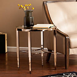 Southern Enterprises Thessaly End Table Round