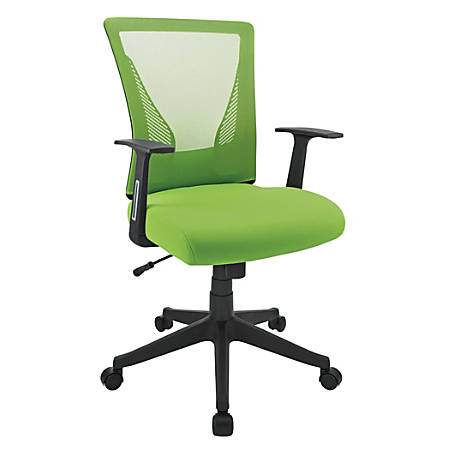 Brenton Studio® Radley Mesh/Fabric Mid-Back Task Chair, Green/Black