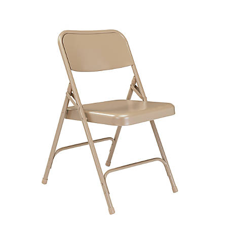 National Public Seating Series 200 Folding Chairs, Beige, Set Of 4 Chairs
