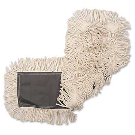 "Genuine Joe Disposable Cotton Dust Mop Refill - 18"" Width25"" Depth - Cotton"