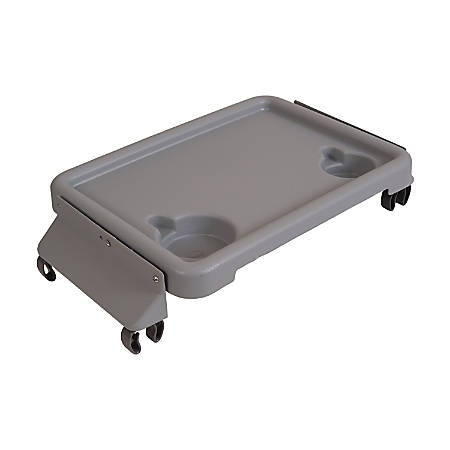 "DMI® Folding Walker Tray With Cup Holders, 16"" x 11"", Gray"