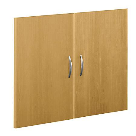 Bush Business Furniture Components Half-Height 2 Door Kit, Light Oak, Premium Installation