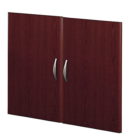 Bush Business Furniture Components Half-Height 2 Door Kit, Mahogany, Standard Delivery