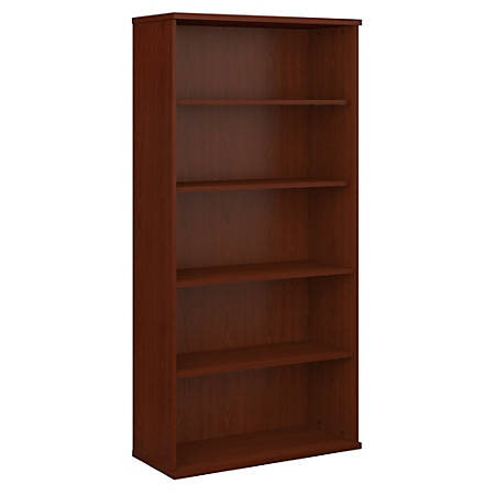 "Bush Business Furniture Components 5 Shelf Bookcase, 36""W, Mahogany, Standard Delivery"