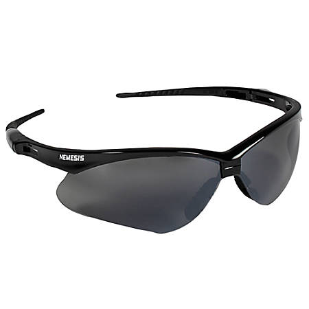 Kleenguard V30 Nemesis Safety Glasses Black Frame Smoke Lens