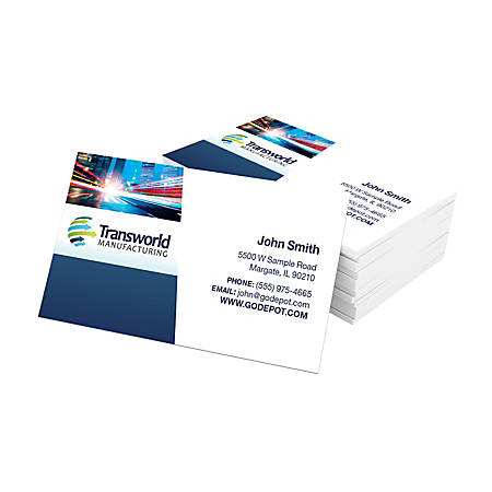 """Standard Business Cards, 3 1/2"""" x 2"""", 14 Pt, Glossy White, Box Of 250"""