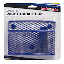 LockerMate Wire Mesh Locker Organizer BlackBlue