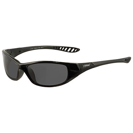 Jackson Safety V40 Hellraiser Safety Eyewear - Lightweight, Flexible, Comfortable, Impact Resistant - Ultraviolet Protection - Polycarbonate Lens - Smoke, Black - 1 Each
