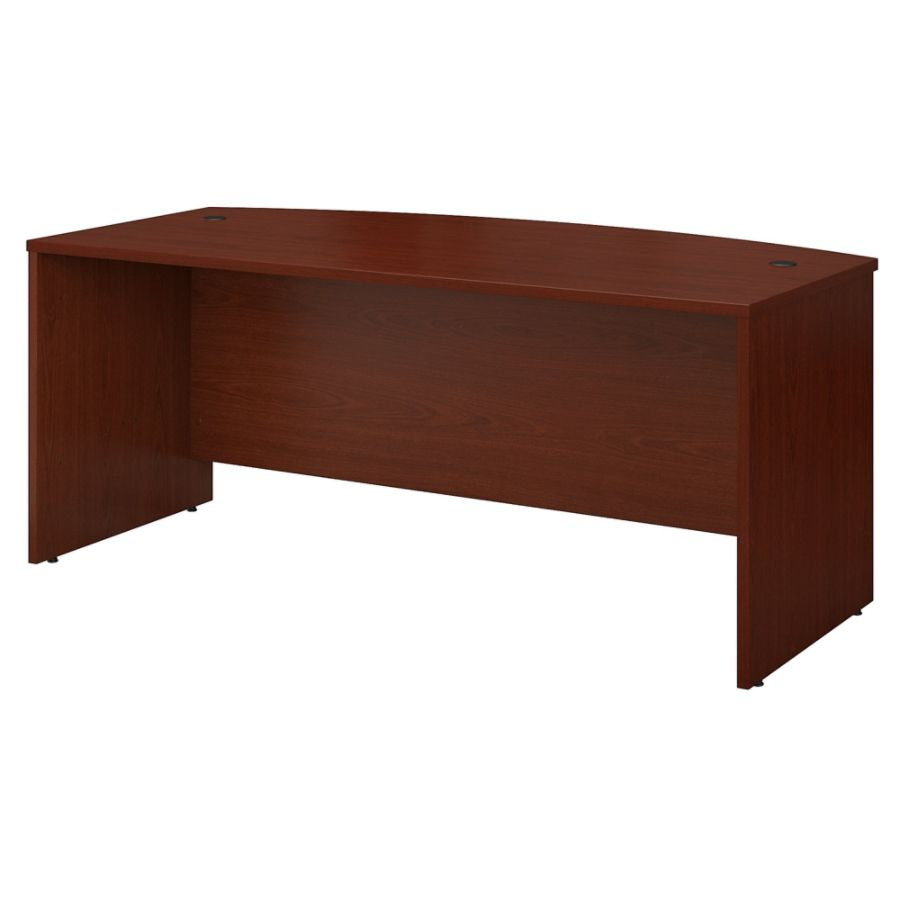 bush business furniture series bow. Bush Business Furniture Components Bow Front Desk 72 W X 36 D Mahogany Standard Delivery By Office Depot \u0026 OfficeMax Series E