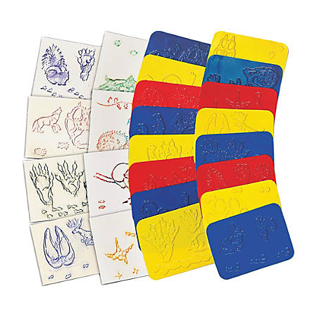 "Roylco Animal Track Rubbing Plates - 4"" x 5"" - 16 / Pack - Assorted - Plastic"