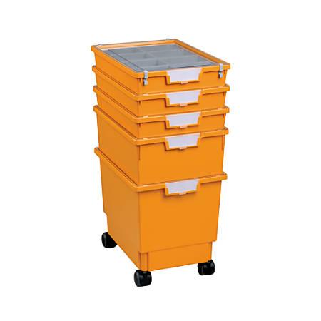 "Storsystem Standard-Width Rollatray Kit, 16 3/4"" x 12 1/3"" x 28 1/4"", Primary Yellow"