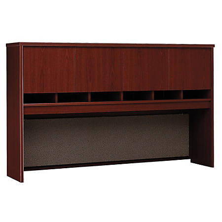 "Bush Business Furniture Components 4 Door Hutch, 72""W, Mahogany, Standard Delivery"