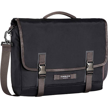 """Timbuk2 Closer Carrying Case (Briefcase) for 15"""" Notebook - Jet Black - Water Resistant - Nylon, Neoprene Pocket - Handle, Shoulder Strap - 13"""" Height x 15.4"""" Width x 3.1"""" Depth"""