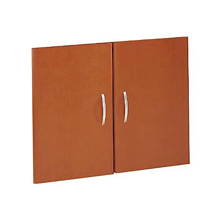 Bush Business Furniture Components Half-Height 2 Door Kit, Auburn Maple, Standard Delivery