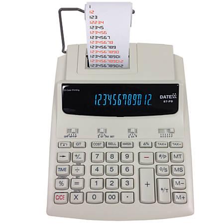 Datexx 87-PD Printing Calculator