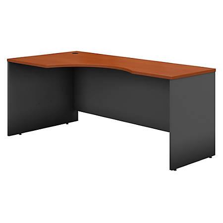 "Bush Business Furniture Components Corner Desk Left Handed 72""W, Auburn Maple/Graphite Gray, Standard Delivery"