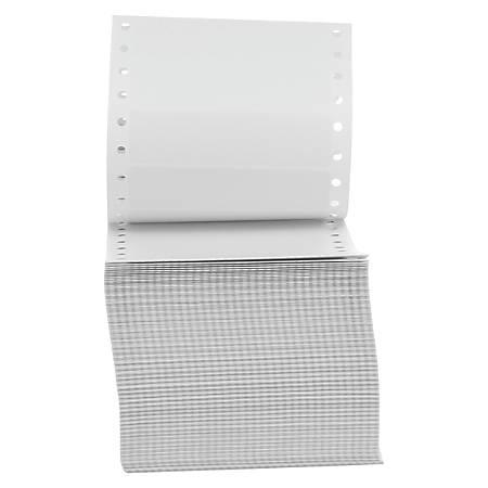 """Universal Dot Matrix Printer Labels, UNV70104, 15/16"""" x 3-1/2"""", White, Box Of 5000 Labels"""