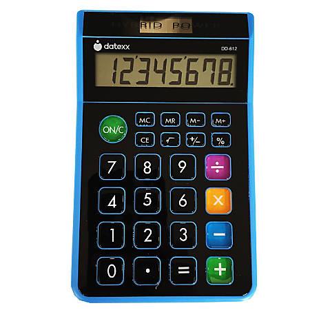 Datexx DD-612 Desktop Calculator, Assorted Colors