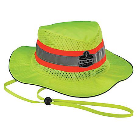 Ergodyne Chill-Its 8953CT Evaporative Class Headwear Hi-Vis Ranger Hat, Large/X-Large, Lime