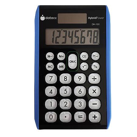 Datexx DD-100 Handheld Calculator, Assorted Colors