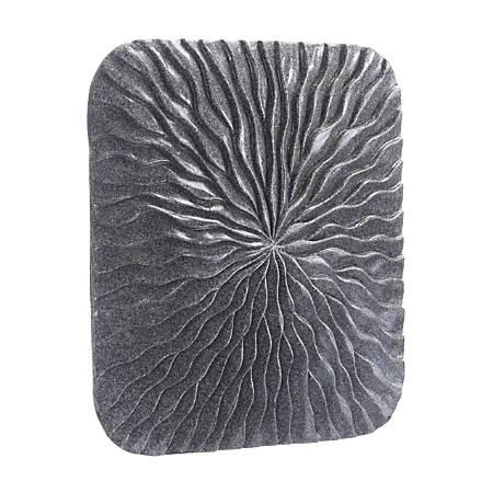 Zuo Modern Square Wave Plaque, Small, Dark Gray