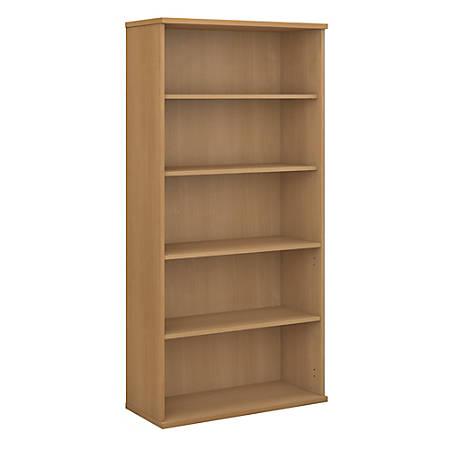 "Bush Business Furniture Components 5 Shelf Bookcase, 36""W, Light Oak, Standard Delivery"