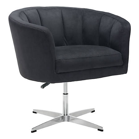 Zuo Modern Wilshire Occasional Chair, Black/Chrome