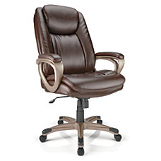 Realspace Treswell Leather High Back Chair