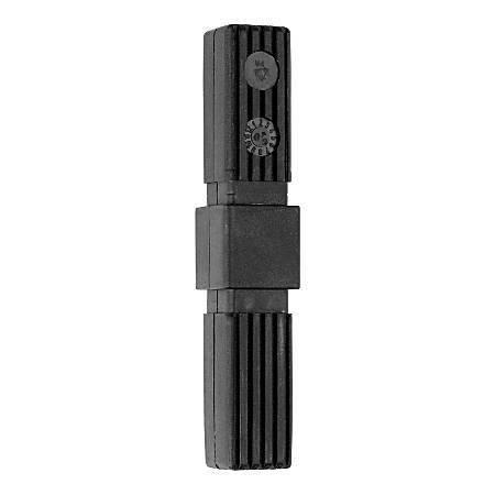 "Storsystem Metal Rack Connectors, 4 3/4""H x 1/2""W x 1/2""D, Dark Gray, Set Of 4"