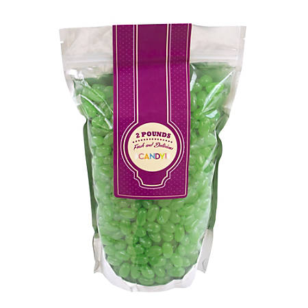 Jelly Belly® Jelly Beans, Green Apple, 2 Lb Bag