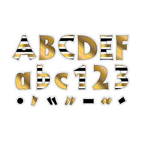 """Barker Creek® Letter Pop-Outs, 4"""", 24K Gold, Set Of 255"""