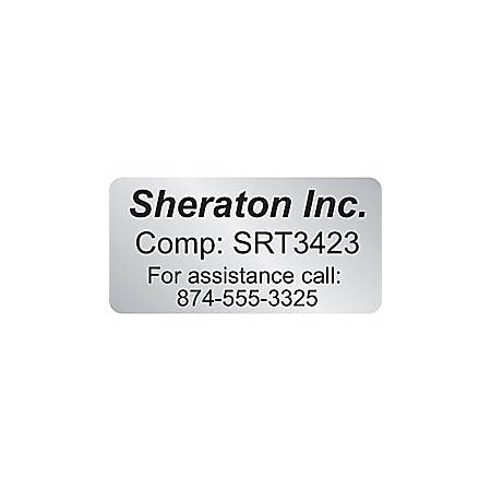 """Custom 1-Color Advertising Labels, Rectangle, 1/2"""" x 1"""", Roll Of 250 Labels"""