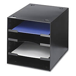 Safco Steel Desktop Sorter 4 Compartments