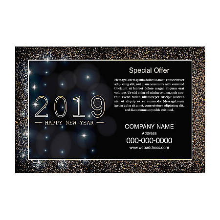 "Yard Sign, 18"" x 24"", Night Glitter, Black"